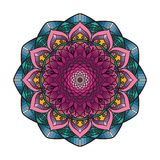 Lovely colorful mandala 6. Lovely colorful mandala with intricate pattern Royalty Free Stock Images