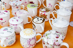 Lovely  Coloured cups Royalty Free Stock Image