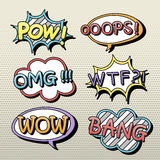 Lovely comic sound effect set Royalty Free Stock Photography