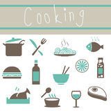 Lovely Cookware Icons Set Royalty Free Stock Photo