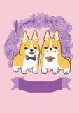 Lovely Corgi. A cute card stock illustration