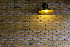 Lovely corner and Beautiful brick wall in coffee shop. Lovely corner and Beautiful brick wall in coffee shop, Chiang mai, Thailand royalty free stock images