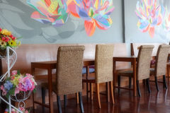 Lovely corner and Beautiful interior in coffee shop. Lovely corner and Beautiful wall in coffee shop, Chiang mai, Thailand stock photos