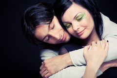 Lovely couple. Young and sexy people Royalty Free Stock Photos