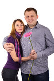 Lovely couple. Young Lovely couple isolated on the white background Royalty Free Stock Photo