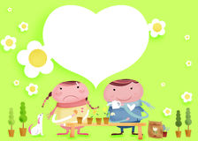 Lovely couple. When things are not good, i'll stand beside you Vector Illustration