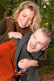 Lovely couple in the autumn Stock Images