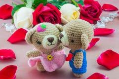 Lovely couple baby bears stock photo