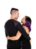 Lovely couple from back. Royalty Free Stock Image