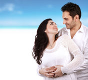 Lovely couple on the beach Stock Photography