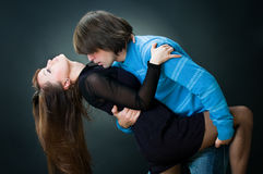 Lovely couple dancing Stock Image