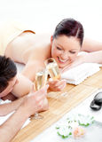 Lovely couple drinking champagne Royalty Free Stock Photography