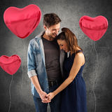 Lovely couple embracing royalty free stock images
