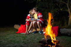 Lovely couple enjoying their romantic night. Royalty Free Stock Photo
