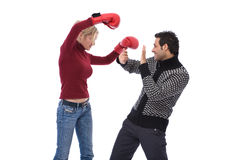 Lovely couple at a fight Stock Photo