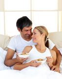 Lovely couple having breakfast Royalty Free Stock Photos