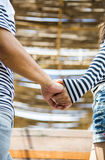 Lovely couple hold the hand together Royalty Free Stock Image