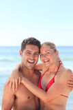 Lovely couple in honey moon Royalty Free Stock Photos