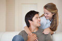 Lovely couple hugging Stock Images