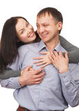 Lovely couple hugging Stock Photography