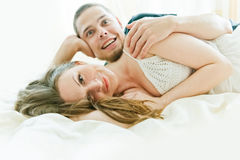 Lovely couple hugging Stock Photos