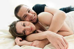 Lovely couple hugging Royalty Free Stock Photo