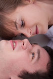 Lovely couple looking each other Royalty Free Stock Photos