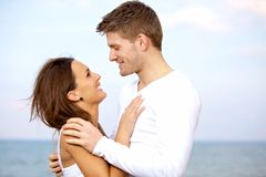 Lovely Couple Looking at Each Other with Affection Royalty Free Stock Photos