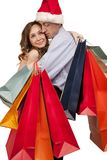 Lovely couple making christmas shopping Stock Image