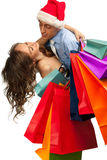 Lovely couple making christmas shopping Stock Images