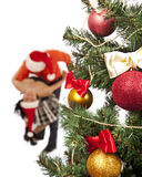 Lovely couple near a Christmas tree Royalty Free Stock Photo