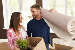 Lovely couple in new home Royalty Free Stock Images