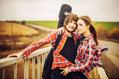 Lovely couple outdoor Stock Photography