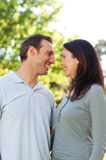Lovely couple in the park Stock Photography