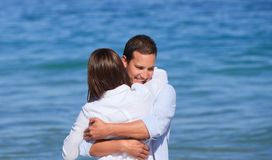 Lovely couple in the sea Royalty Free Stock Photo