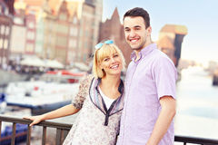 Lovely couple sightseeing the city Stock Image
