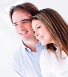 Lovely couple smiling Stock Photography
