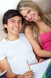 Lovely couple of students Stock Image