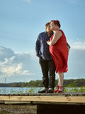 Lovely couple together, summer evening Royalty Free Stock Photo
