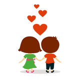 Lovely couple valentine day Royalty Free Stock Photo
