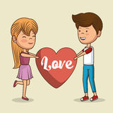 lovely couple valentines day Royalty Free Stock Image