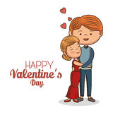 Lovely couple valentines day Stock Photography