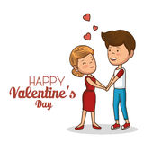 Lovely couple valentines day Royalty Free Stock Images