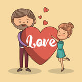Lovely couple valentines day Stock Images
