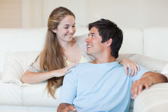 Lovely couple watching television Royalty Free Stock Photo