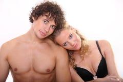 Lovely couple on the white background Stock Image