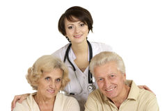Lovely couplea and doctor Royalty Free Stock Photo