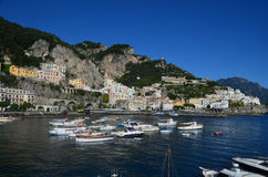 Lovely Cove in Amalfi Along the Salerno Gulf in Italy Royalty Free Stock Image