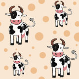 Lovely cows seamless backround Stock Photography