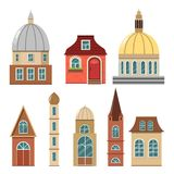 Lovely cozy houses for a fairytale town. Royalty Free Stock Images